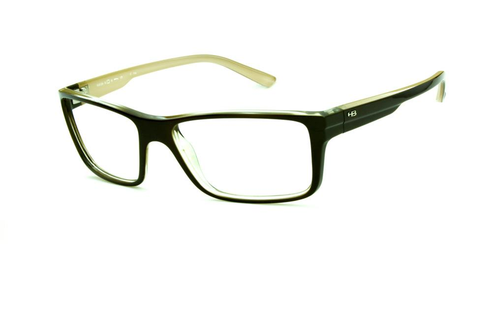 Óculos HB M93 024 Polytech Marrom café bege interno na haste 091f84196e