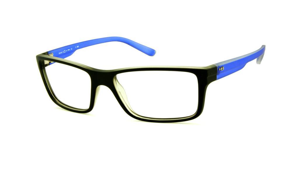 Óculos HB M93 024 Polytech preto fosco haste azul fosco 12fab4388a