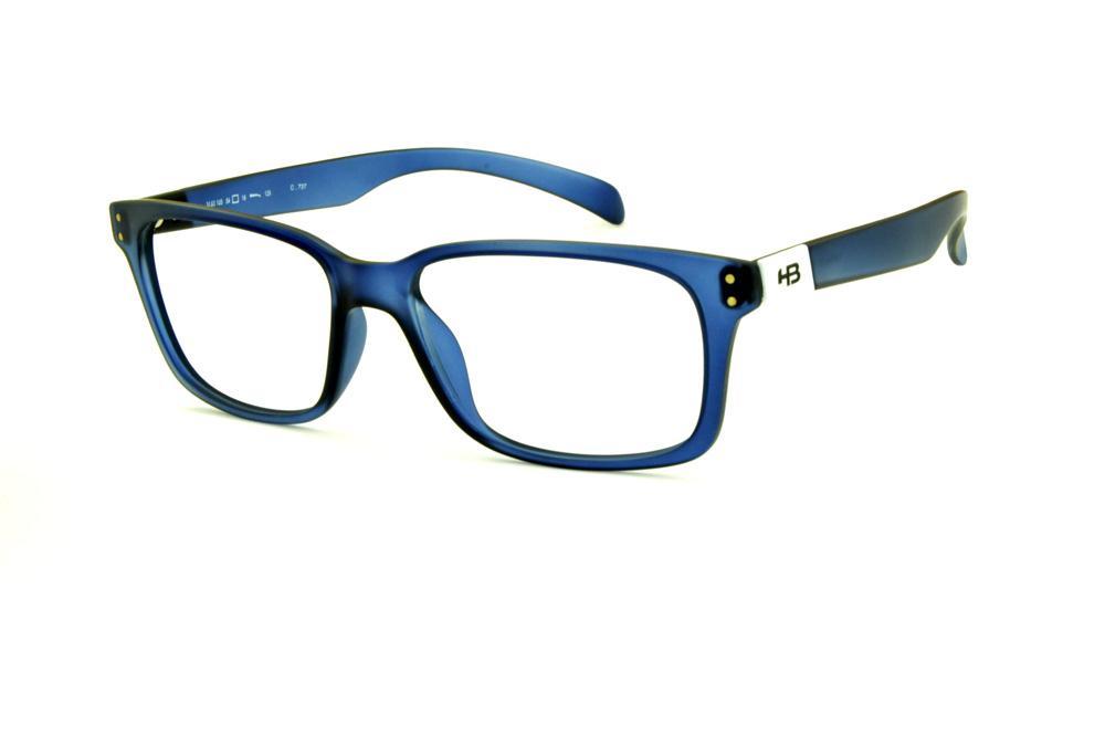 Óculos HB M93 105 Ultramarine Aerotech azul fosco com detalhe branco na  haste ccbe081fe8
