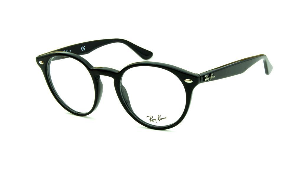 eac5cb8ab9d5f Óculos de grau Ray-Ban RB2180 preto redondo armação acetato