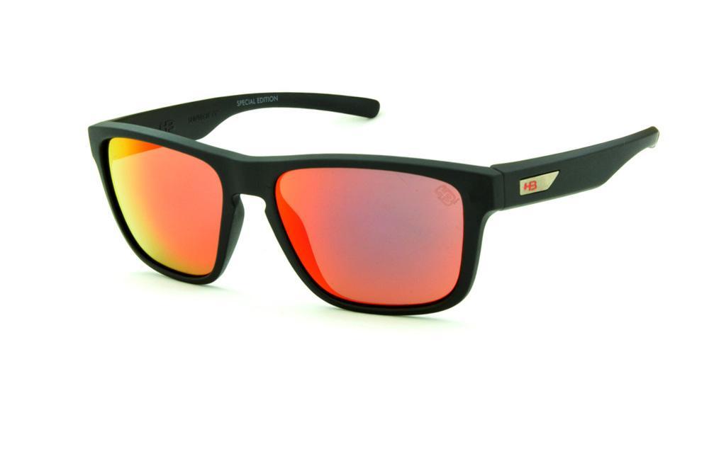 Óculos HB 90112 H-BOMB Preto fosco e lente vermelha espelhada edição Tony  Kanaan 64b3e1a3bd