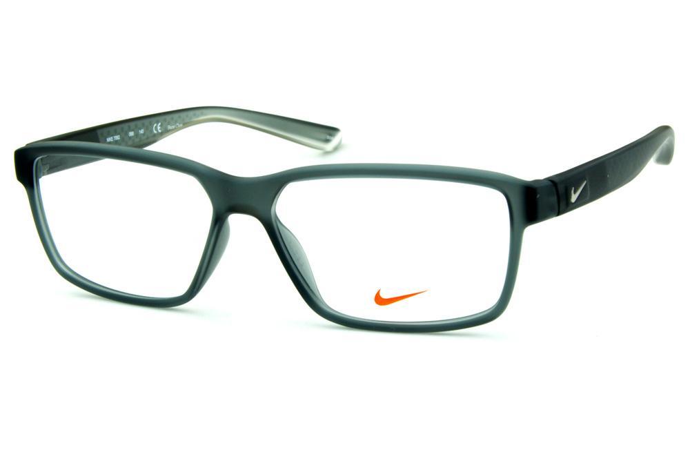 fab84c4f11650 Óculos Nike 7092 Live Free Cinza fosco e logo de metal