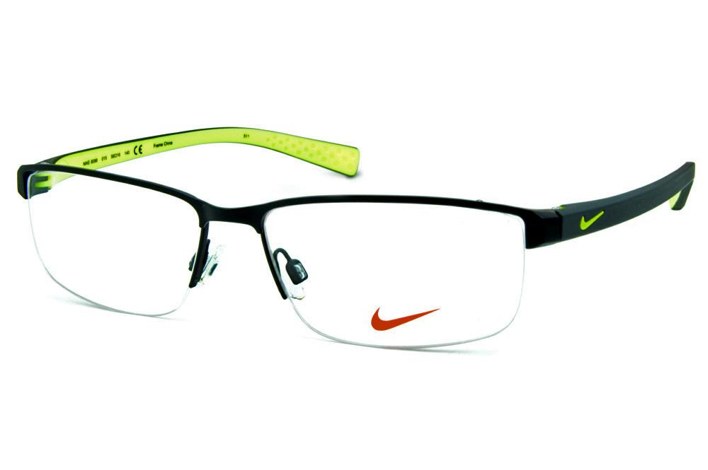 0a28664a0de02 Óculos Nike 8098 metal preto fio de nylon haste em grilamid