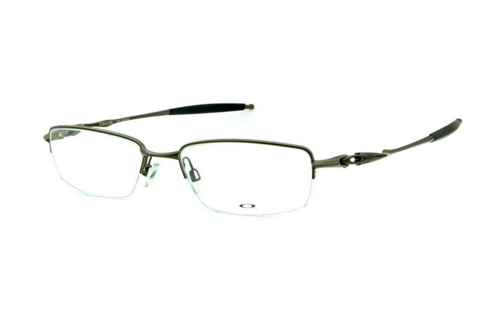 f1b3aecdb87cb Óculos Oakley OX3129 Pewter metal bronze fio de nylon com ponteiras  emborrachadas