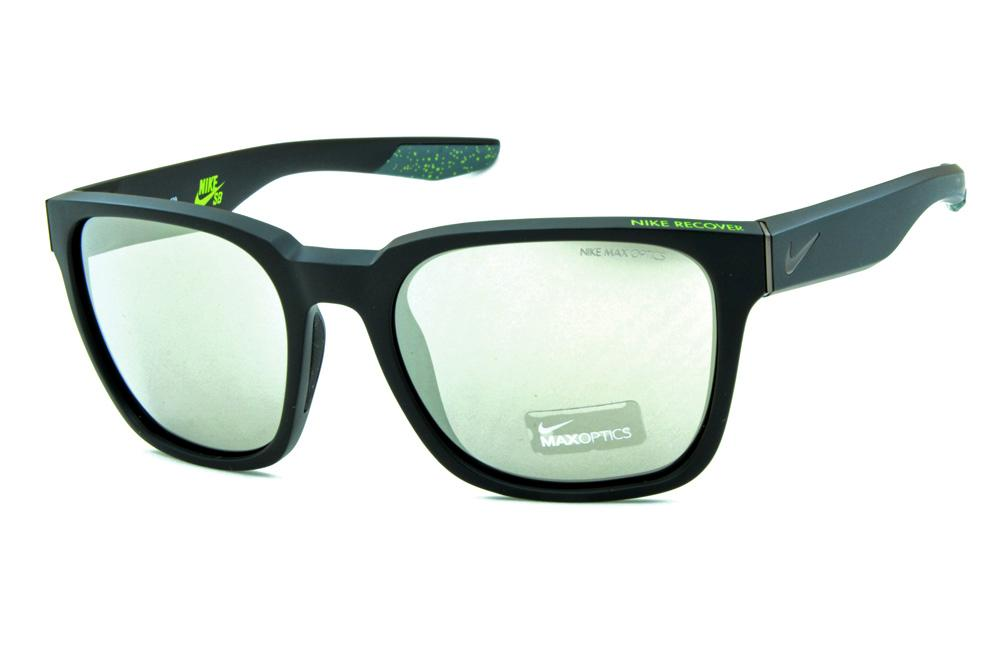 041b66cfb Óculos de Sol Nike Recover EV0875 Preto fosco / lente espelhada prata