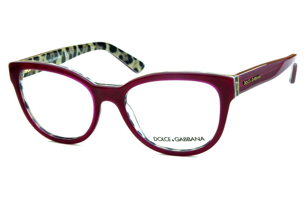 Óculos Dolce   Gabbana DG3209 Bordô onça na parte interna 8f64f40320