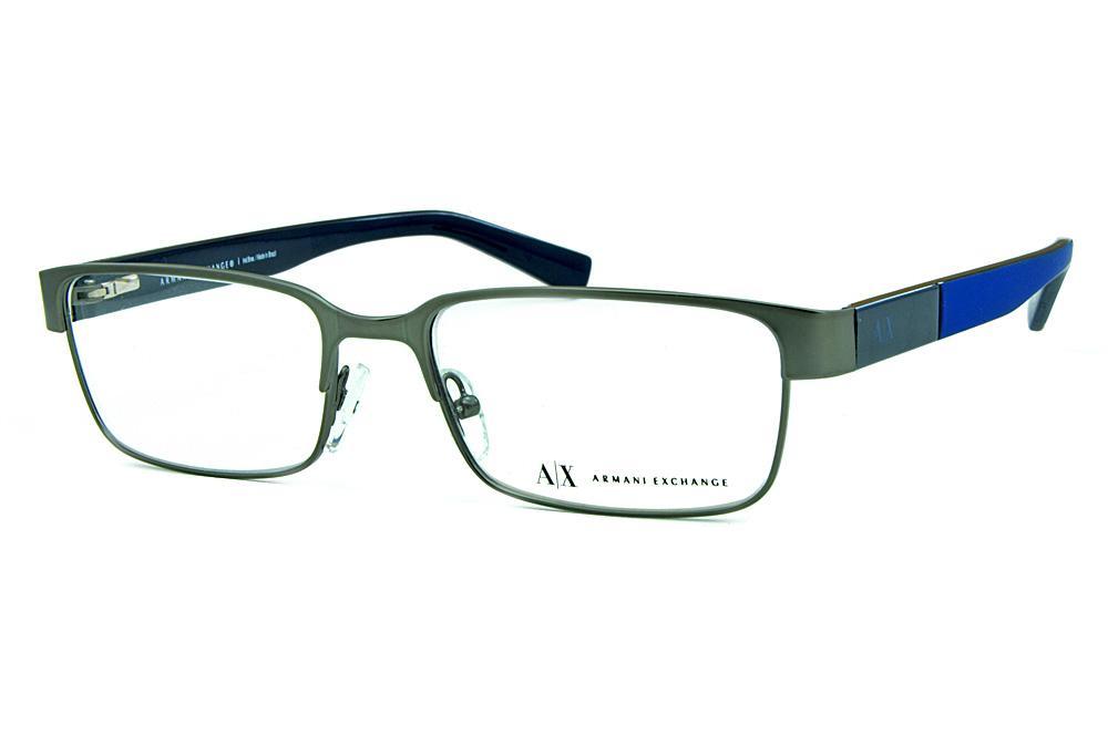 ee5f8aeca7258 Óculos Armani Exchange AX1017 grafite hastes azul fosco