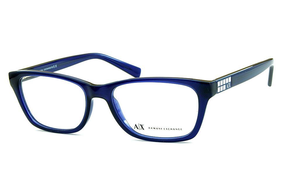 673528b70 Óculos Armani Exchange AX3006 Azul detalhe prata nas hastes