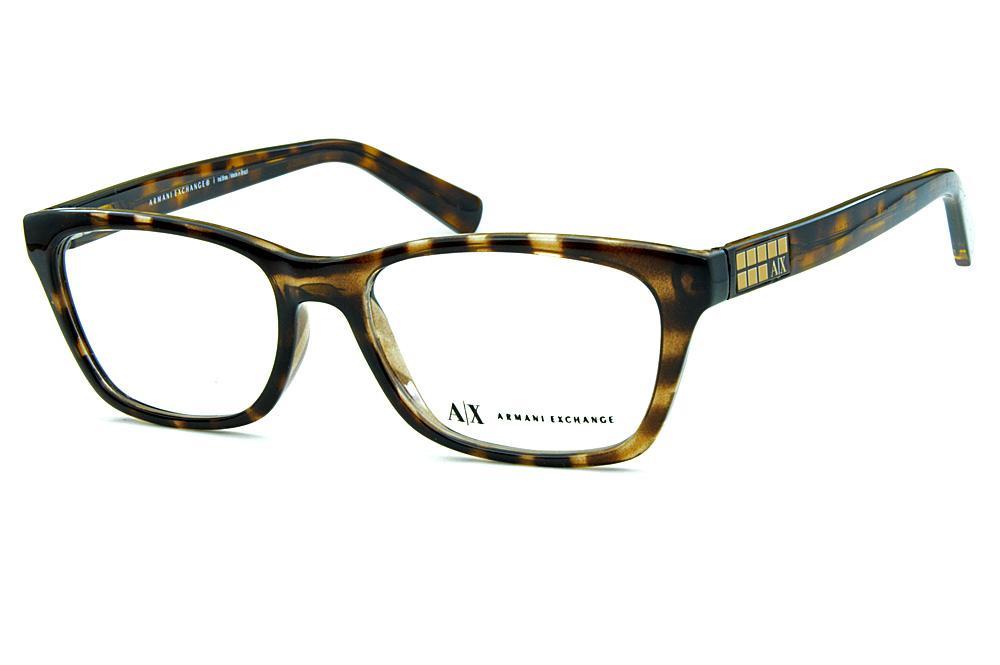 4fee4e61dd1cf Óculos Armani Exchange AX3006 Marrom demi tartaruga logo dourado