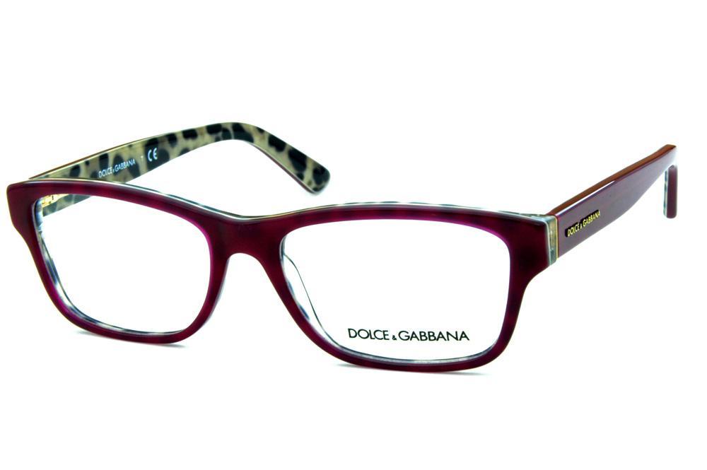 Óculos Dolce   Gabbana DG3208 Bordô onça na parte interna acb4c8a682