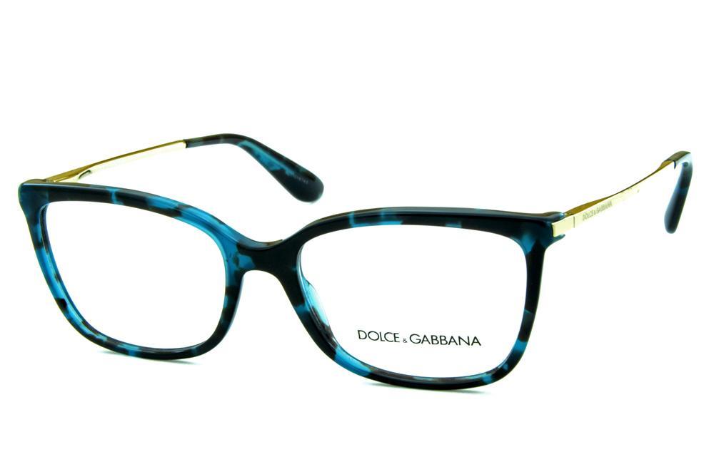 b6148923c Óculos Dolce & Gabbana DG3243 Azul e preto mesclado e hastes de metal