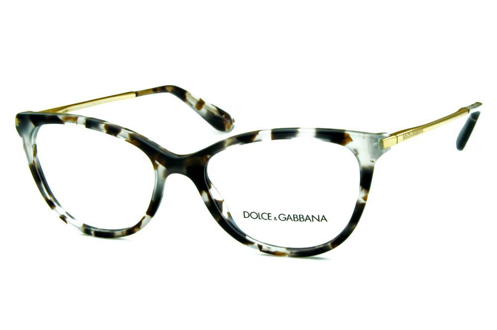 0685c52b6e3a8 Óculos Dolce   Gabbana DG3258 Cinza Claro e Marrom efeito onça