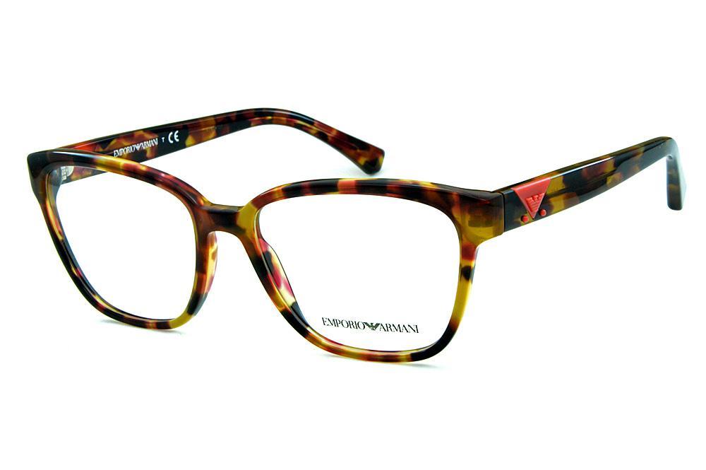 9a0292421 Óculos Emporio Armani EA3094 Demi tartaruga logo rosa