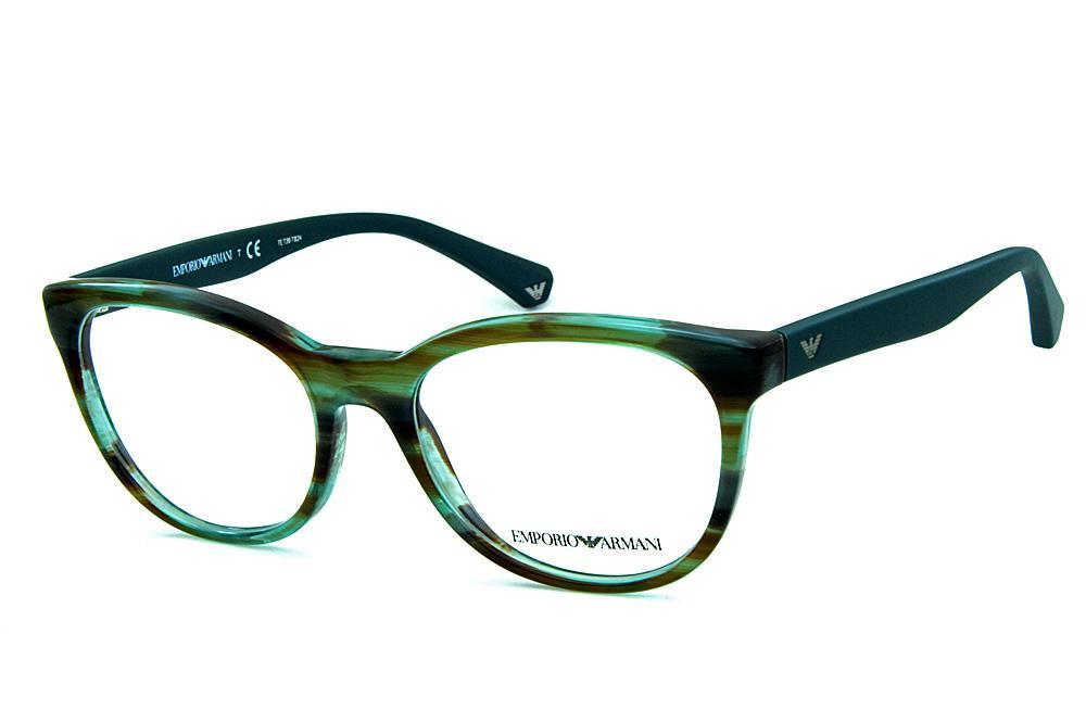 307c2ac37 Óculos Emporio Armani EA3105 Verde mesclado hastes verde musgo