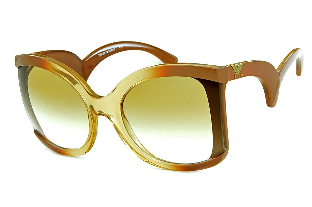 22ad012454af0 Óculos de sol Emporio Armani EA4083 Marrom caramelo