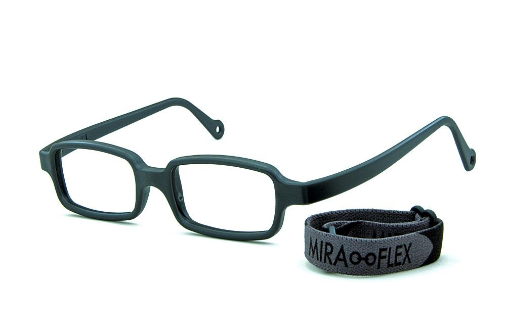 5476e4882 Óculos Miraflex Siliconado INQUEBRÁVEL New Baby 3 45/17 Cinza (de 6 a 10  anos)
