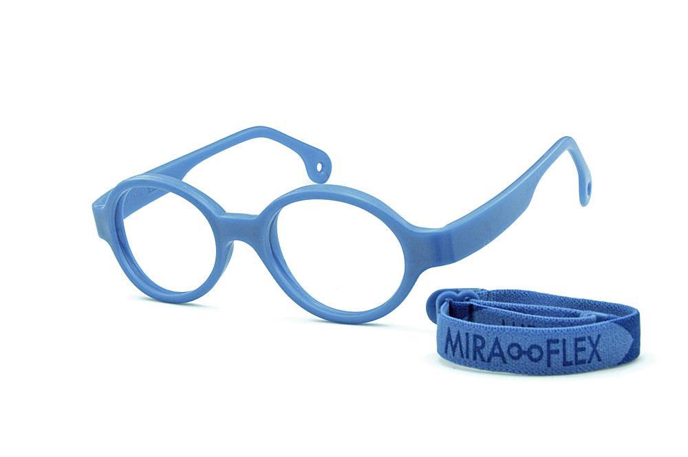 e99a7d26c Óculos Infantil Miraflex em silicone Baby Lux 2 40/14 Azul (de 5 a 7 anos)