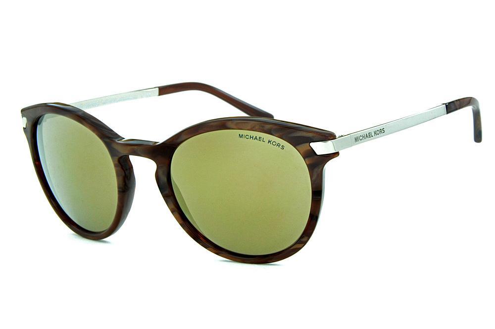 Óculos de Sol Michael Kors MK2023 Adrianna 3 Marrom espelho bronze 3b3712c2b0