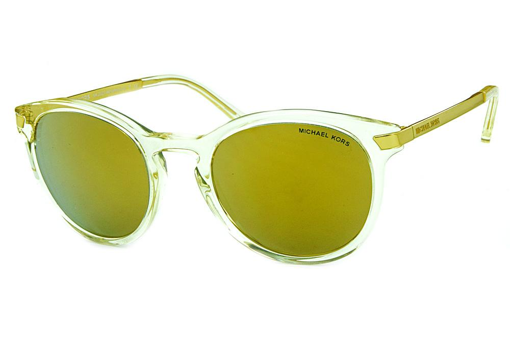 f7d025714f3f3 Óculos de Sol Michael Kors MK2023 Adrianna 3 Transparente e dourado