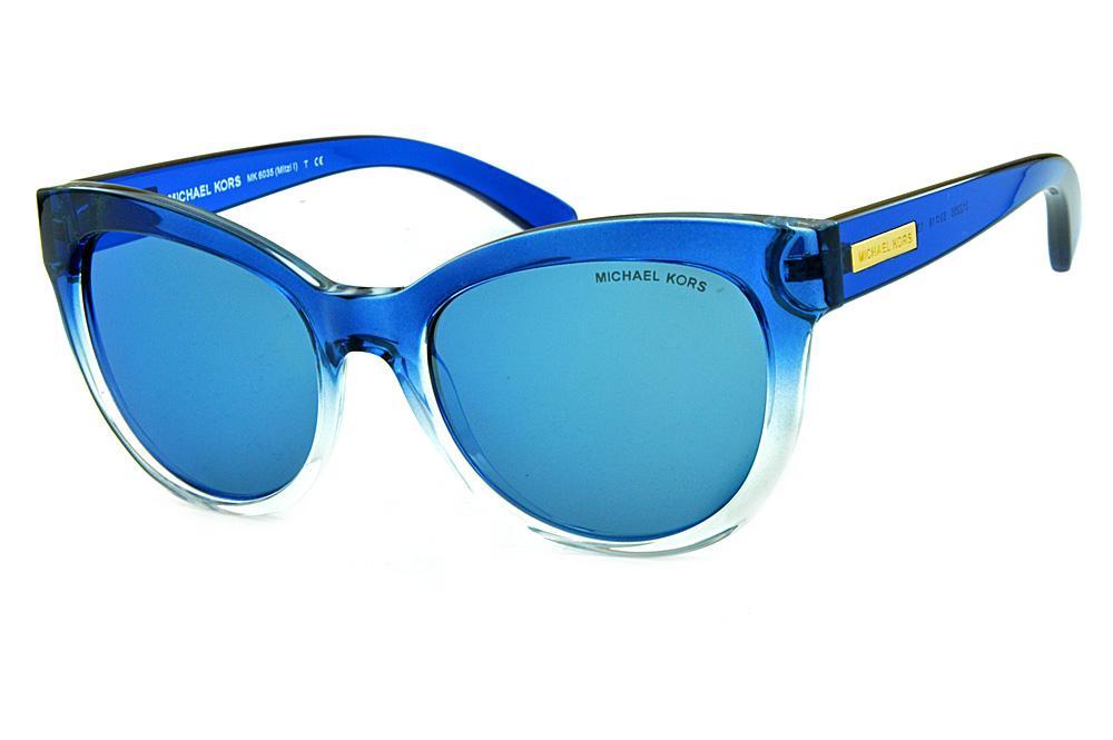 8963450da Óculos de Sol Michael Kors MK6035 Mitzi 1 Azul e Transparente