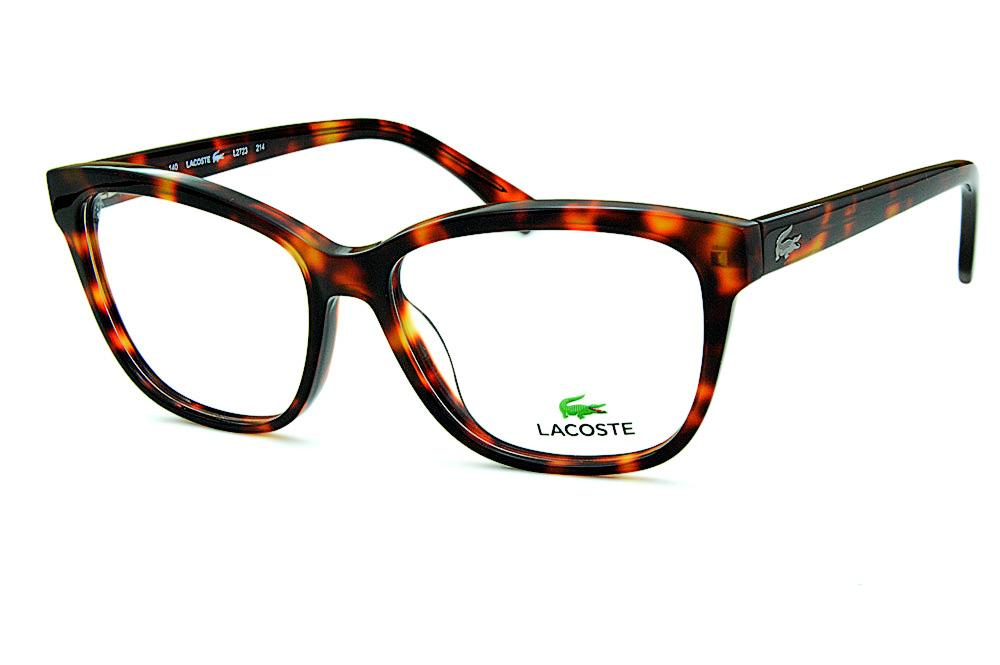 230b777436cee Óculos Lacoste L2723 Demi tartaruga efeito onça logo de metal