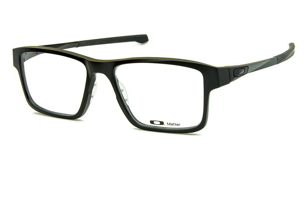 a042879d9 Óculos Oakley OX8040 Chamfer 2.0 Acetato Preto com ponteiras emborrachadas