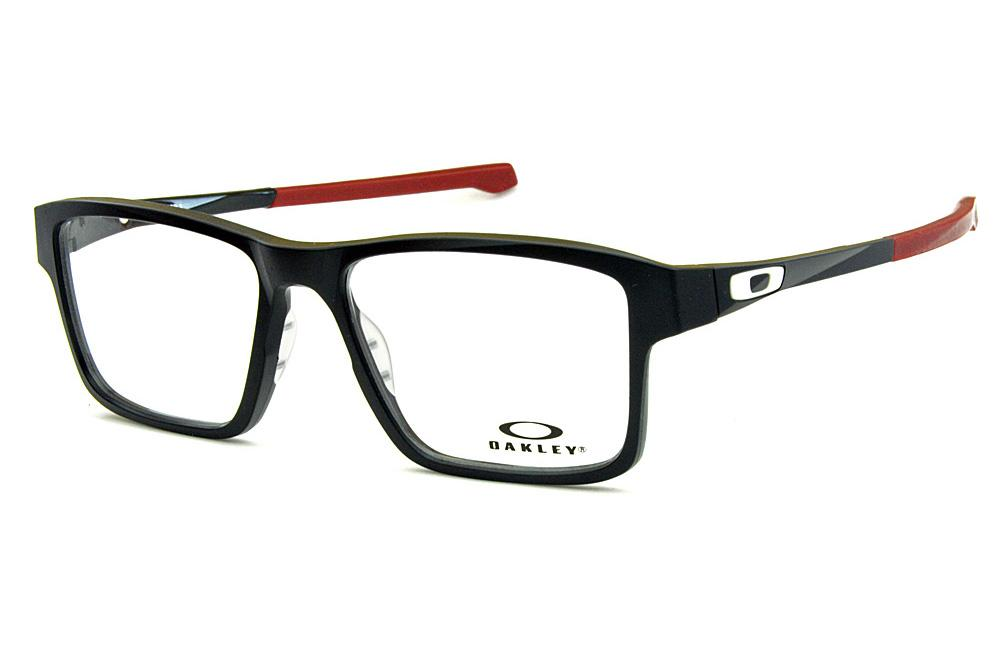 ec05fd087fbbe Óculos Oakley OX8040 Chamfer 2.0 Acetato Preto com Logo Branco