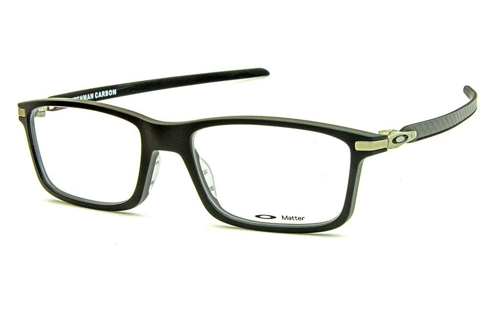 cc63df7fcf310 Óculos Oakley OX8092 Pitchman Carbon Preto fosco com hastes em fibra de  carbono