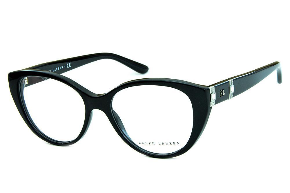 Óculos Ralph Lauren RL6147B Acetato Preto detalhes em strass 24e72a5b69