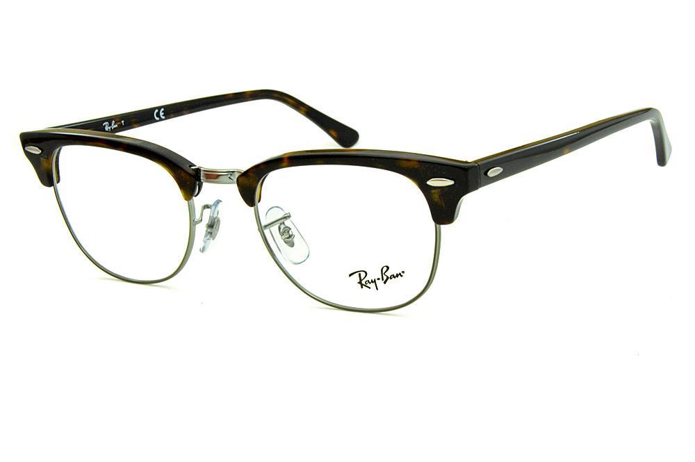 Óculos Ray-Ban Clubmaster RB5154 Acetato tartaruga metal grafite a322940b0f