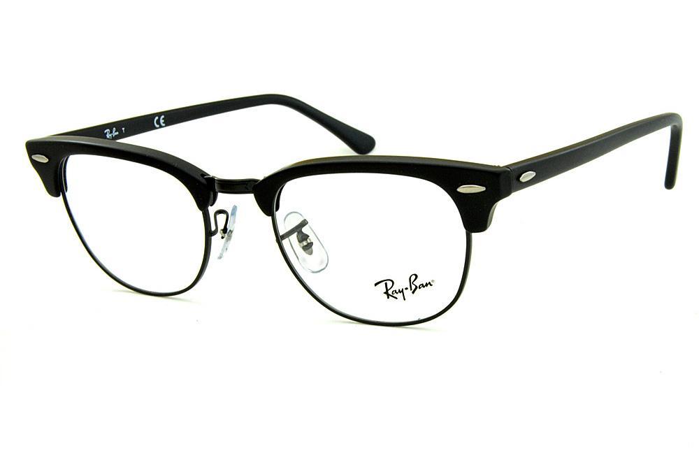 5b3b98732420a Óculos Ray-Ban Clubmaster RB5154 Preto Fosco