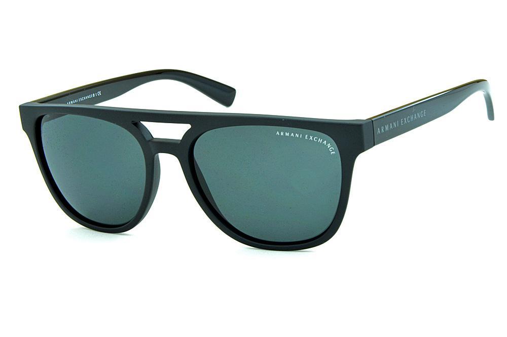 2b4fbf2c0bff1 Óculos de Sol Armani Exchange AX4032 Gatsby Preto fosco