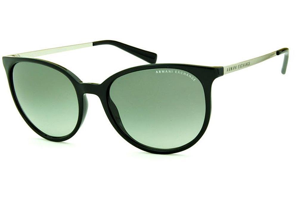 cf0f54ab40d1f Óculos de Sol Armani Exchange AX4048SL preto lentes cinza degradê