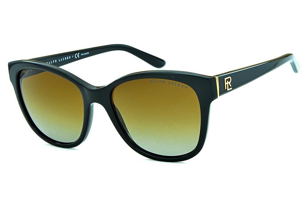 3cf1da358fe12 Óculos de Sol Ralph Lauren RL8143 Acetato preto e lentes polarizadas