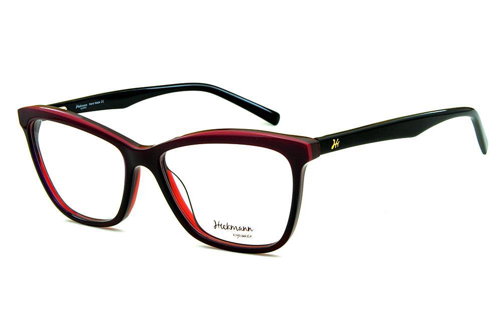 a6458299e231e Óculos Ana Hickmann HI6013 preto e roxo
