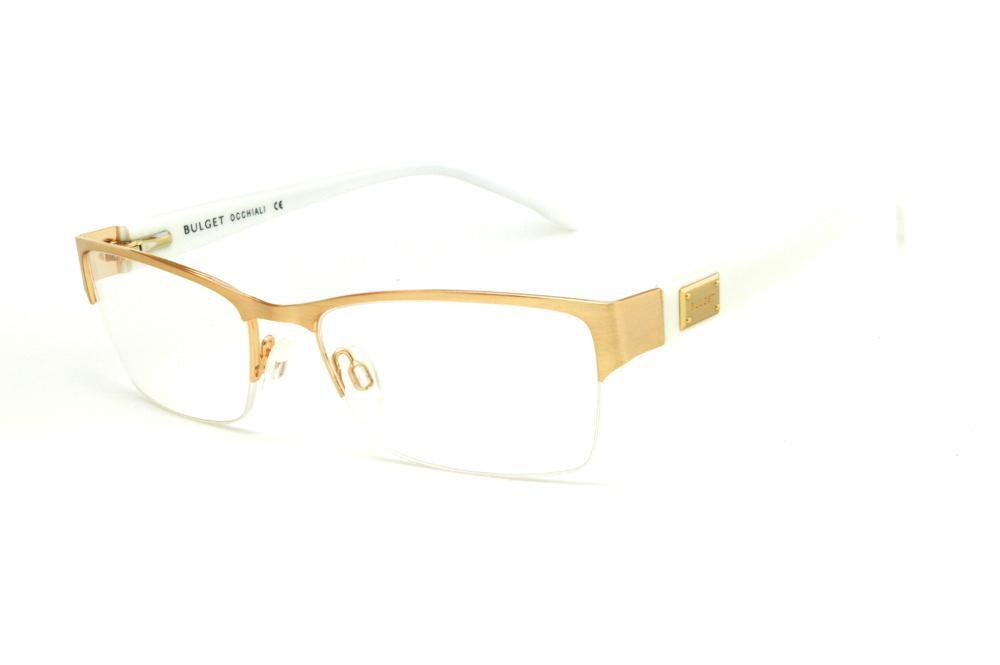 792dc910a Óculos Bulget dourado em nylon com haste branca flexível de mola