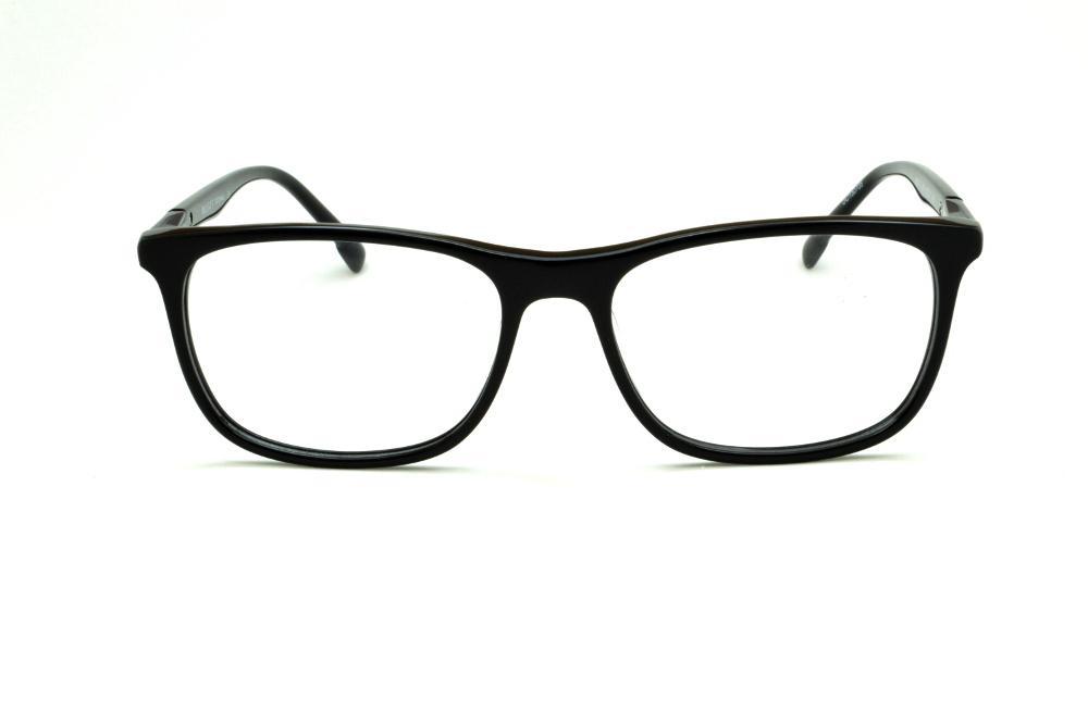 ec137829409db Óculos Bulget BG6151 preto haste preta e detalhe cinza