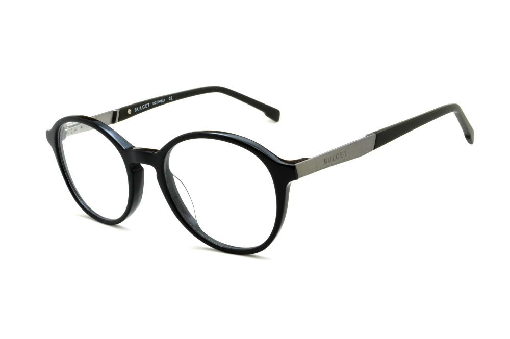 f41ef7dd00115 Óculos Bulget BG6139 preto haste preta e cinza