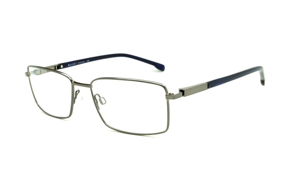 bcc65a9ede832 Óculos Bulget BG1395 prata haste azul marinho