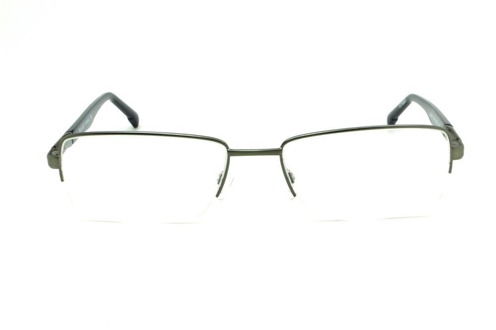8cfdf522e75ad Óculos Bulget prata com haste preta flexível de mola