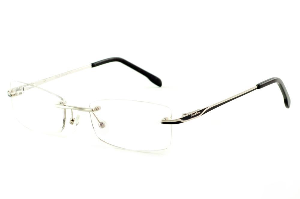 24bf5acb4 Óculos Ilusion J00543 prata modelo parafusado haste preto e prata