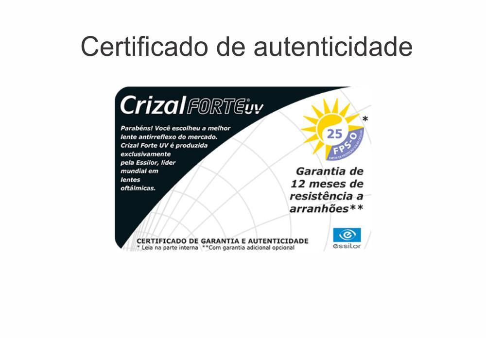 Lente Crizal Forte Stylis Alto Índice 1.74 -14,00 a +6,50   0 a -5,00 6797046534