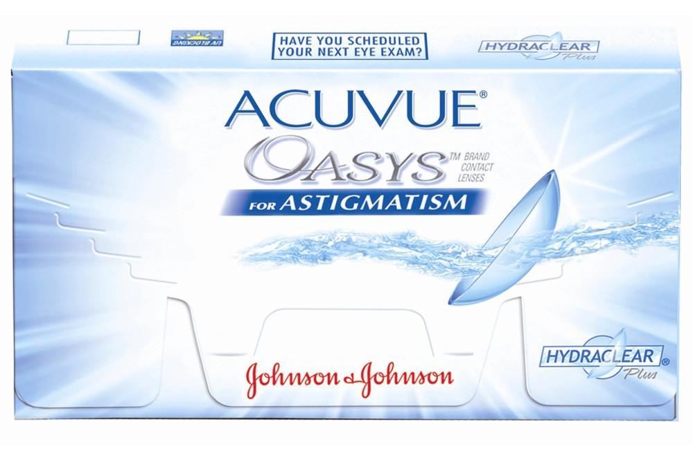 Lente de contato Acuvue Oasys Tórica kit com 6 lentes Esf. -6,00 a +4,50    Cil. -0,75 a -3,00 226f1a3cee