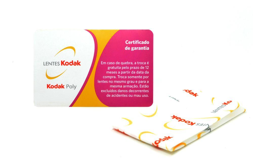 be01449cfa1f4 Lente Kodak em Policarbonato com Anti Reflexo . . Grau Esférico -4