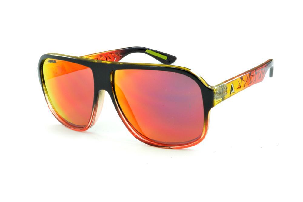 Óculos Absurda Calixtin preto multicor com lente vermelha amarela espelhado 1db3d059d7