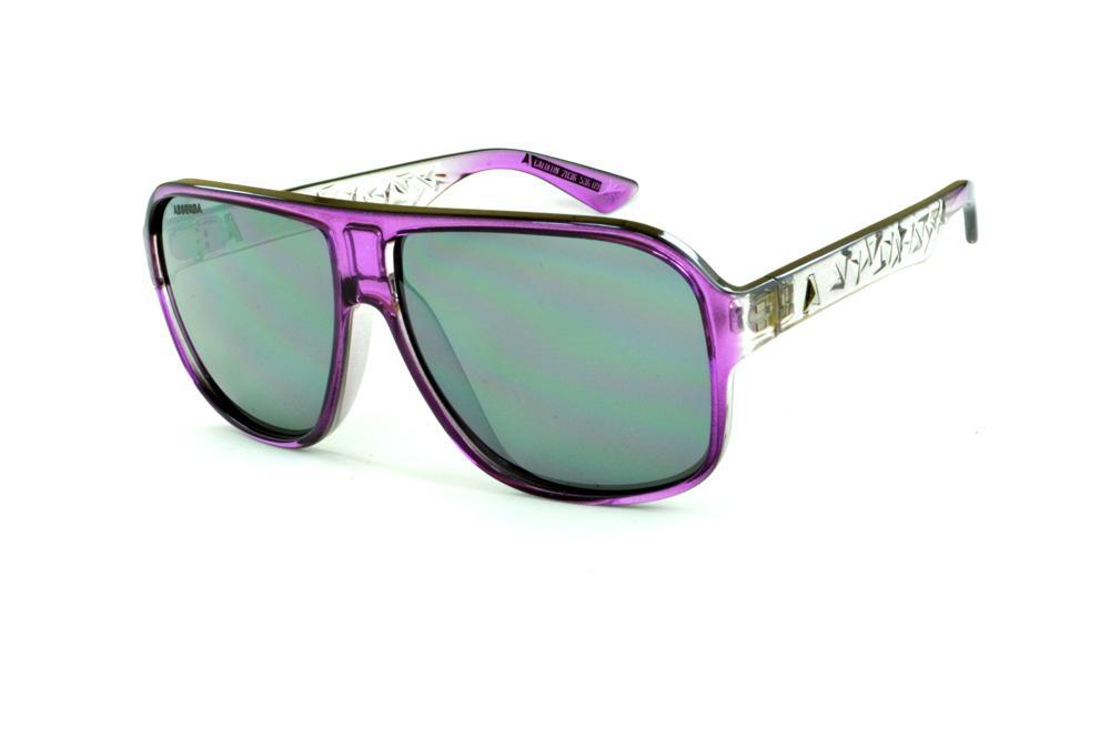 Óculos Absurda Calixtin roxo e transparente lente cinza 7601301078