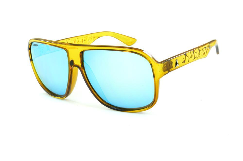 Óculos Absurda Calixto amarelo lente azul espelhada 1ca769e11b