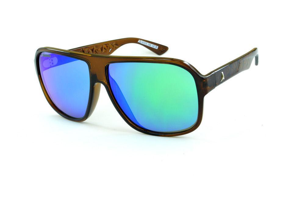 Óculos Absurda Calixto marrom e lente roxa azul violeta espelhado 6b34bed69a