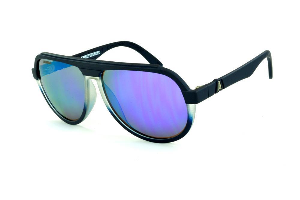 f93226d2cd5af Óculos Absurda La Rocca azul fosco lente roxa espelhado