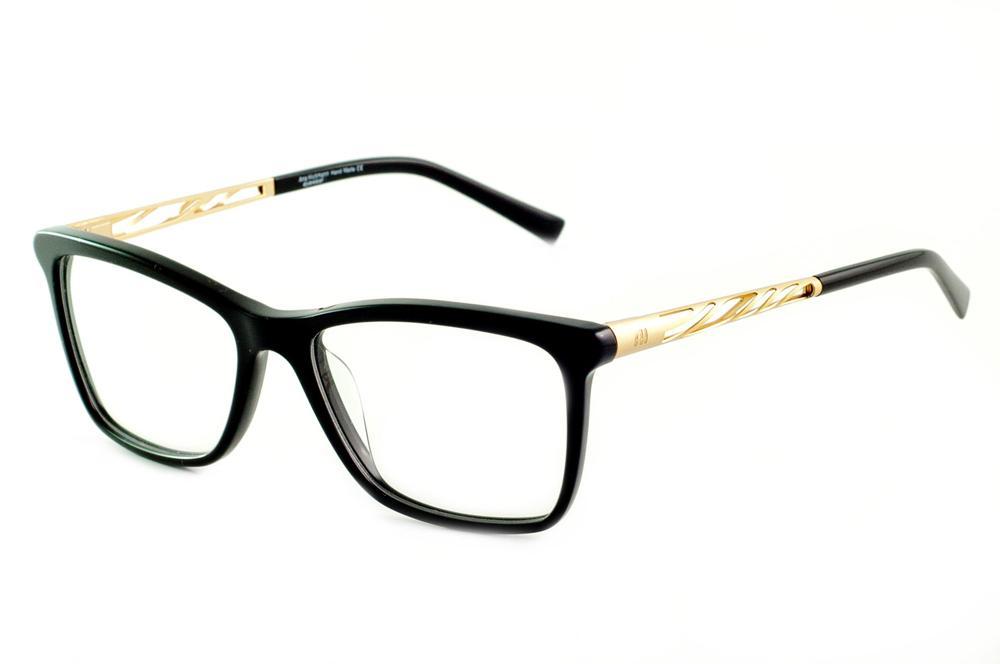 d03f793ea9d59 Óculos Ana Hickmann AH6213 preto haste dourada
